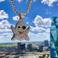 Iced Out Ghost Pendant