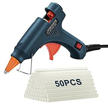 [Upgraded]Hot Glue Gun Kit, Atmoko Glue Gun with 50pcs Glue Sticks, High Temperature Melting Mini Glue Gun for DIY Small Projects, Arts and Crafts, Home Quick Repairs,Sealing(20 Watts, Green)