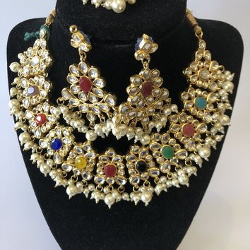 Indian Traditional Style Kundan Necklace