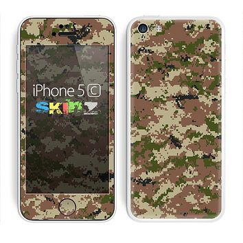 The Digital Camouflage V4 Skin for the Apple iPhone 5c