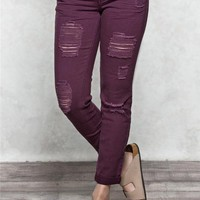 Harlow Destructed Ankle Jegging Jeans