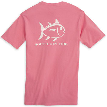 Weathered Skipjack Tee Shirt in Pink Coral by Southern Tide