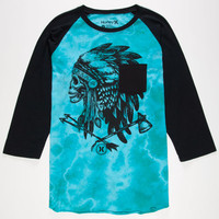 Hurley Navajo Project Mens Baseball Tee Blue  In Sizes
