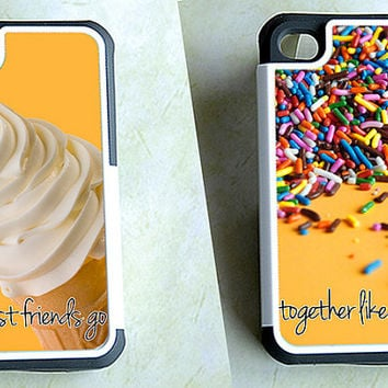 Two Matching Best Friends Hybrid iPhone Cases