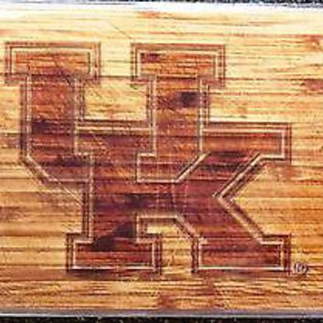 Kentucky Wildcats Woodgrain Design Deluxe Laser License Plate Tag University of