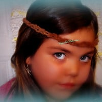 Leather Braided Headband, Choker or Wrapped braceletFestival Head Piece,Festival Wear,Bohochic Hippie Bohemian,Ready 2 Ship,Direct Checkout