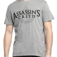 Assassins Creed Lore Grey Half Sleeve Men T-Shirt