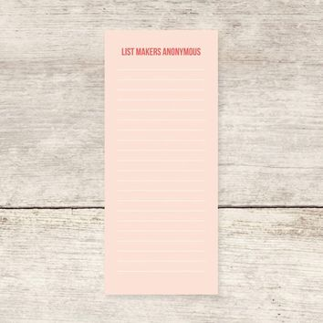 List Makers Anonymous To do List Notepad