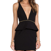 BEC&BRIDGE Christie Peplum Mini Dress in Black