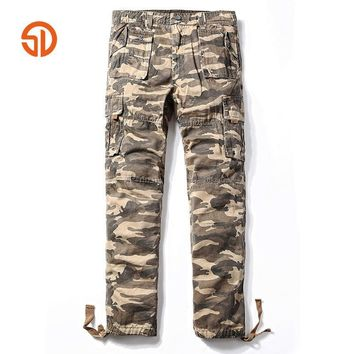 Camouflage Pants Fashion 2017 Mens Casual Pants Camo Cargo Pants Men Loose Straight Mu