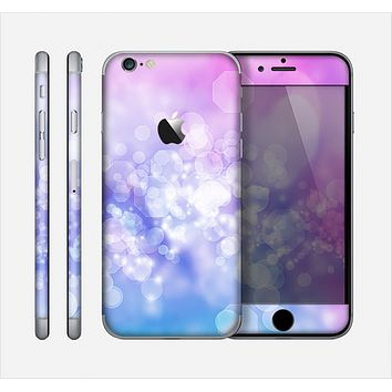 The Blue and Purple Translucent Glimmer Lights Skin for the Apple iPhone 6