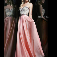 Strapless Sweetheart Sherri Hill Formal Prom Dress 1923