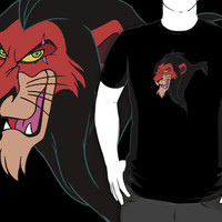 #sc Disney Scar black t-shirt
