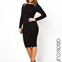 ASOS CURVE Bodycon Dress With Shard Embellishment at asos.com