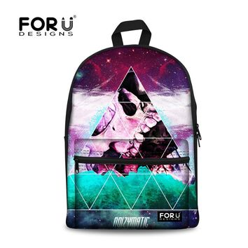 Tumblr Backpack for Teenage Girls&Boys Taco Cat Galaxy Space Printing Backpack Women bolsa feminina Mochilas Student School Bags