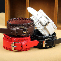 Fashion Leather Bracelet Women Leather Jewelry Bangle Cuff Bracelet Men Leather Bracelet CX25-BR