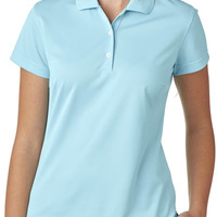 adidas ladies' climalite(R) basic polo - frost blue (m)
