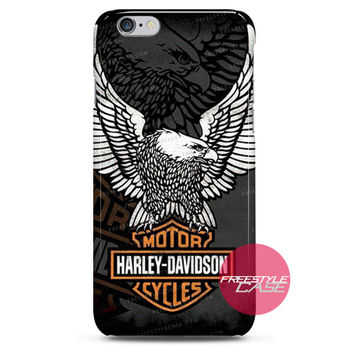 Harley Davidson Eagle Wings  iPhone Case 3, 4, 5, 6 Cover