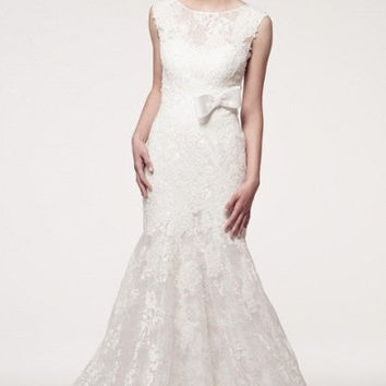 KCW1555 Diamond White Lace High Neck Wedding Dress Kari Chang Eternal