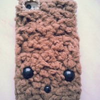 New Chic Cute Lovely Brown Plush Teddy Bear Face Bling Rhienstones Mobile Cell Phone Case Cover for iPhone 4s 5s 5c 6 Plus Samsung - Casemoda | Pinkoi