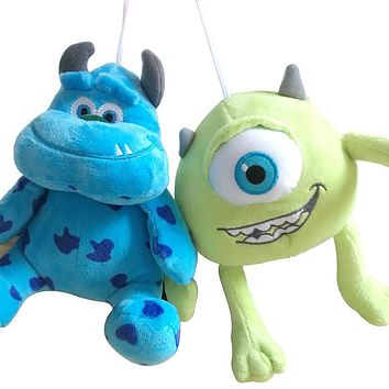1pc 20cm Monsters Inc Monsters University Monster Mike Wazowski or James P. Sullivan Plush Toy for Kids Gift