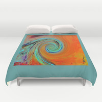 Head Spin Duvet Cover by Art by Mel | Society6
