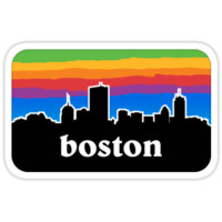 'Boston' Sticker by atwood
