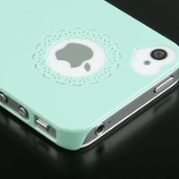 Pandamimi Dexule Cute Girls Ultra-thin Ice Cream Glossy Hard Case Cover for iPhone 4, 4S - Mint Green