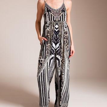 Camilla: Tribal Theory Wide Leg Jumpsuit | Nancy Meyer