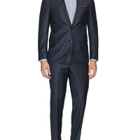Pindot Birdseye Notch Lapel Wool Suit