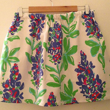 Lilly Pulitzer Resort Fresh Cut Bluebonnets Cissy Skirt Preppy Sorority