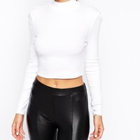 ASOS The Turtleneck Top In Rib