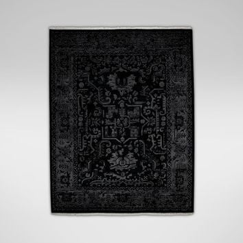 Heriz Deconstructed Rug, Charcoal