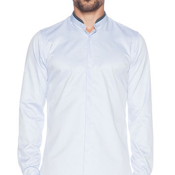 The Kooples Smart Twill Shirt in Blue
