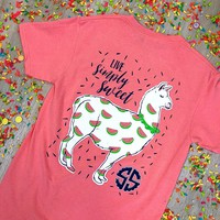 """Youth Simply Southern """" Happy Llama"""" Medium only"""