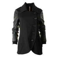 Bailey 44 Womens Ponte Faux Sleeves Jacket