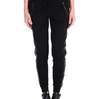 Tractr Pleather Stripe Jogging Pants