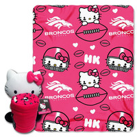 Denver Broncos NFL Hello Kitty with Throw Combo
