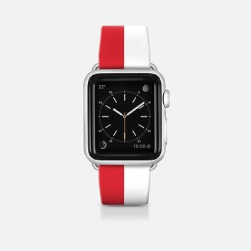 Indonesia flag - Patriot collection Apple Watch Band (42mm)  by WAMDESIGN | Casetify