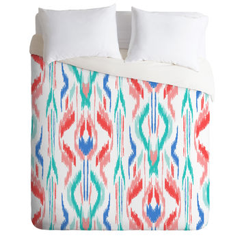 Jacqueline Maldonado Sun Dress Ikat Blue Duvet Cover
