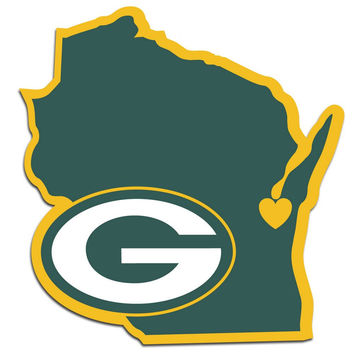Green Bay Packers Home State Decal FHSD115L