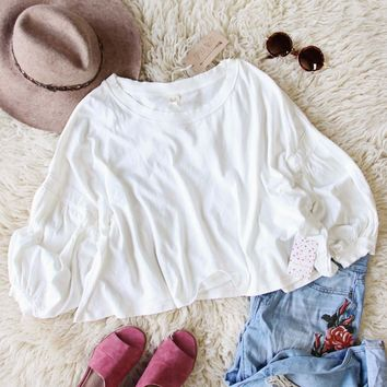 Free People Sugar Rush Tee in White