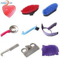 Horse Supplies Cleaning Set Equestrian Sweet Scraper Comb Water Wiper & Hoof Pick for Horse Cleaning Grooming Accessories Tools