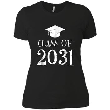 Class of 2031 Grow with me  - First Day of School  Next Level Ladies Boyfriend Tee