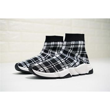 Balenciaga Speed Stretch Knit Mid Sneakers Grid 477289w05g04 Size 35 39 | Best Deal Online