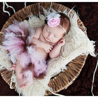 Baby Tutu Set, Newborn Tutu Set, Tutu, Neapolitan Tutu, Pink Brown and White Tutu, Girls Tutu, Tutu Set, Photo Prop, Birthday Tutu Set, Pink
