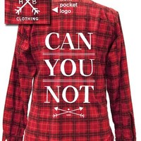 Can You Not Vintage Flannel from HBB Clothing