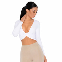 Why Knot Crop Top in White | Crops