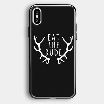 Eat The Rude Hannibal Nbc Fannibal iPhone XS Max Case | Casefruits