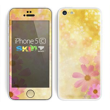 The Yellow & Pink Flowerland Skin for the Apple iPhone 5c